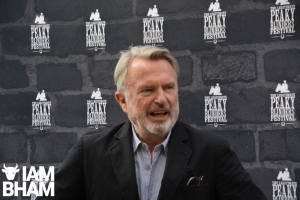 "Fans sing ""Happy Birthday"" to movie star Sam Neill at Peaky Blinders Festival in Digbeth"