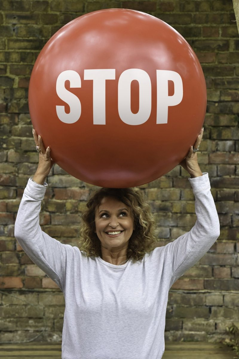 TV presenter Nadi Sawalha supporting Stoptober