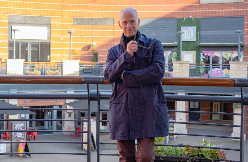 Film director and actor John Waters in Birmingham Southside today