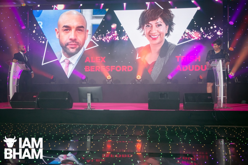 Presenters Alex Beresford and Trish Adudu hosted the MBCC Awards 2019 in Birmingham