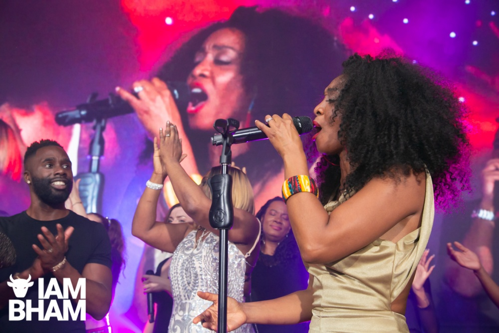 Beverley Knight performed at the MBCC Awards at Aston Villa FC