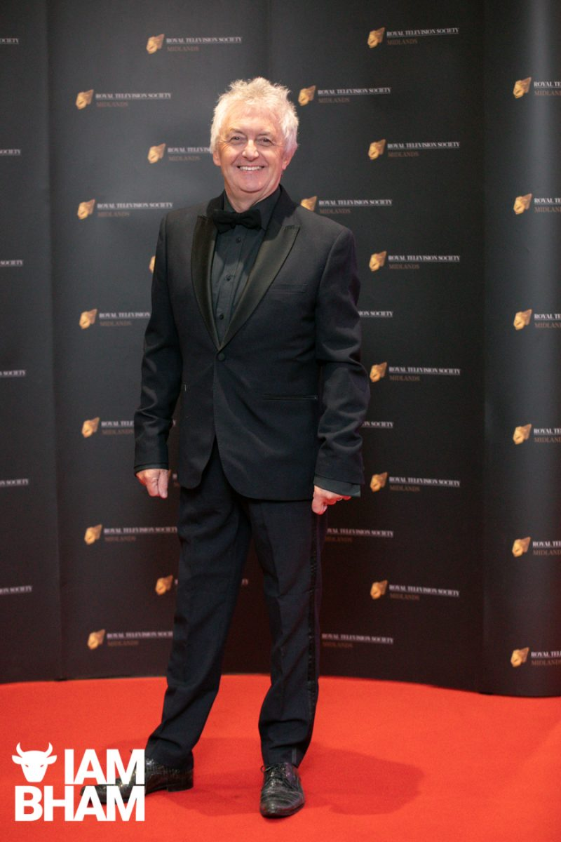 Stars on the red carpet at the Royal Television Society Midlands Awards, in Birmingham. UK. 29th November 2019 Mal Young