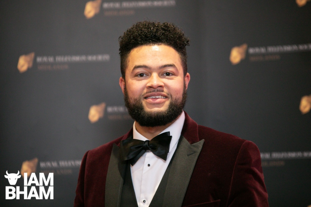 Stars on the red carpet at the Royal Television Society Midlands Awards, in Birmingham. UK. 29th November 2019 Spoken word artist and poet Casey Bailey