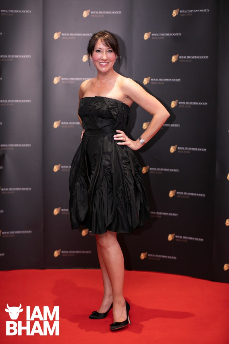 Stars on the red carpet at the Royal Television Society Midlands Awards, in Birmingham. UK. 29th November 2019 Presenter Suzanne Virdee