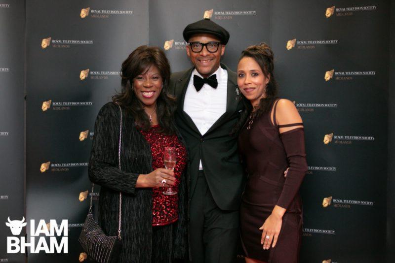 Stars on the red carpet at the Royal Television Society Midlands Awards, in Birmingham. UK. 29th November 2019 Jacki Graham and Jay Blades