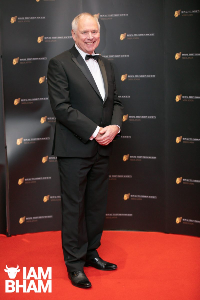 Stars on the red carpet at the Royal Television Society Midlands Awards, in Birmingham. UK. 29th November 2019 BBC Midlands Today news Nick Owen