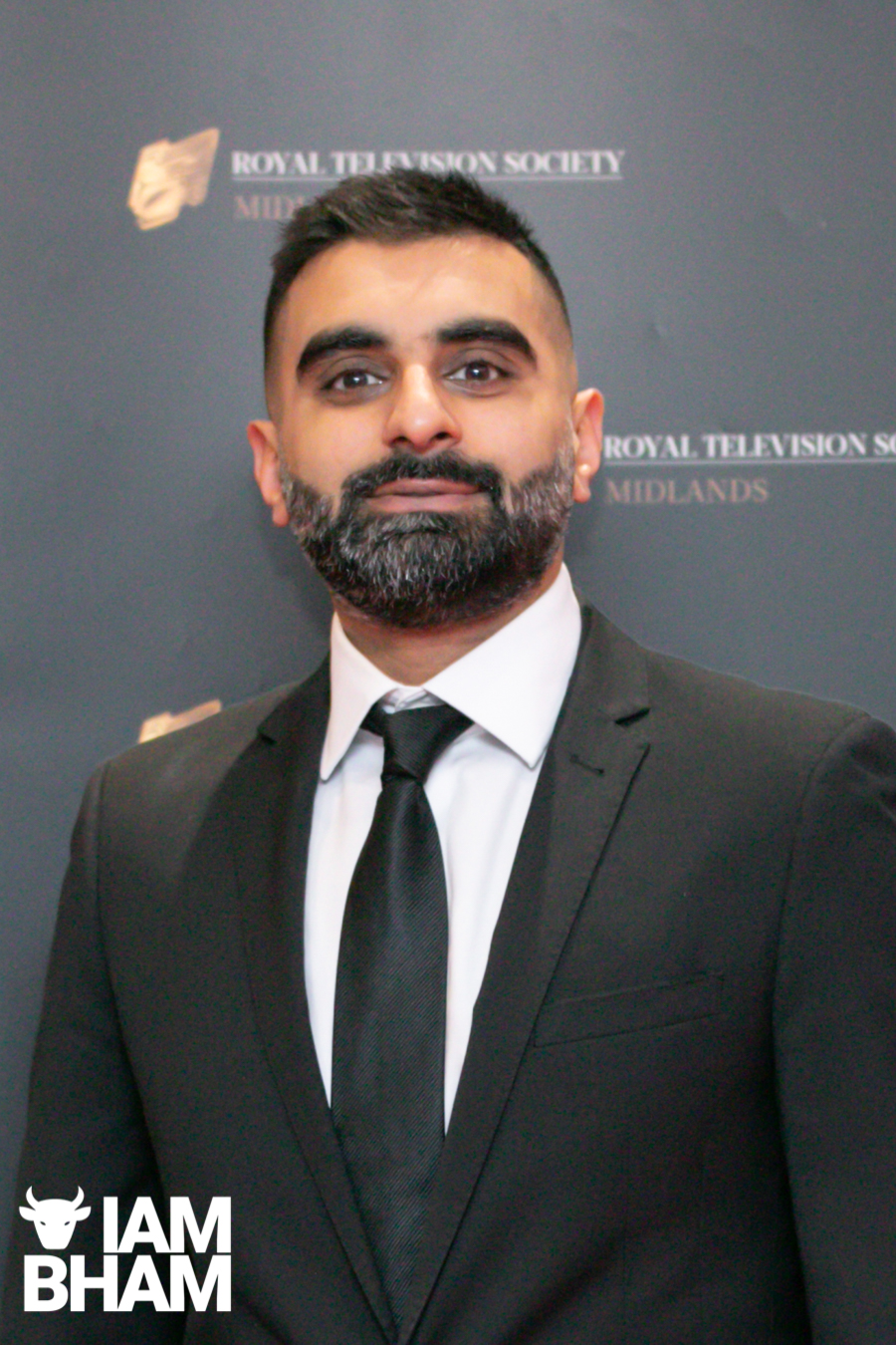 Stars on the red carpet at the Royal Television Society Midlands Awards, in Birmingham. UK. 29th November 2019 Tez Ilyas from Man Like Mobeen and Tez O'Clock Show