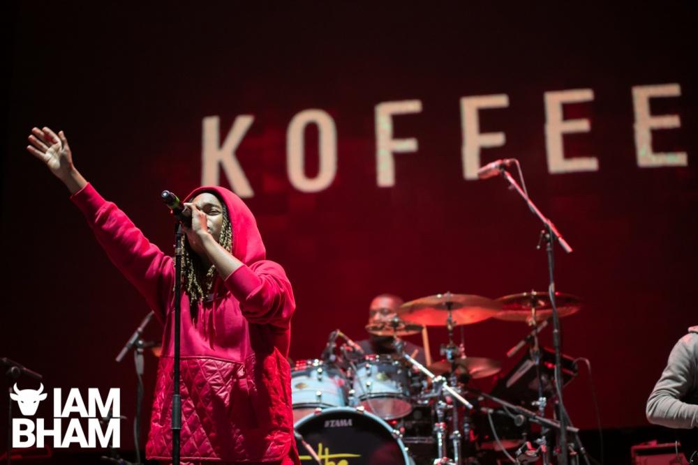 Koffee raggae music live on stage