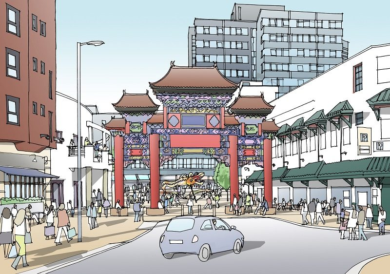 Regeneration plans include a 40ft traditional Chinese arch, to be installed on Ladywell Walk