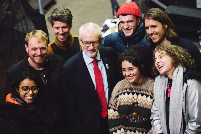 Labour leader Jeremy Corbyn on the general election campaign trail