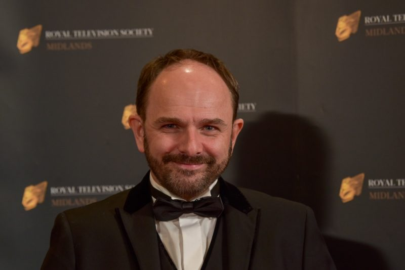 Stars on the red carpet at the Royal Television Society Midlands Awards, in Birmingham. UK. 29th November 2019 Actor Jack Deam