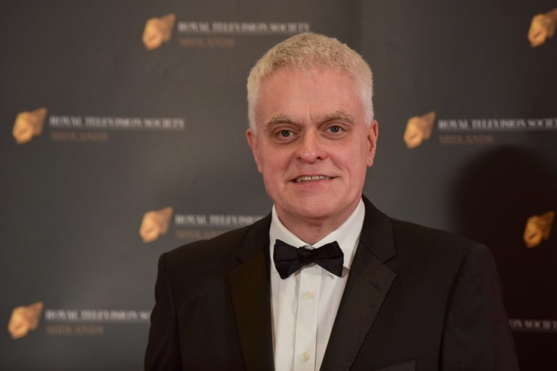 Stars on the red carpet at the Royal Television Society Midlands Awards, in Birmingham. UK. 29th November 2019 The Gadget Show presenter Jon Bentley