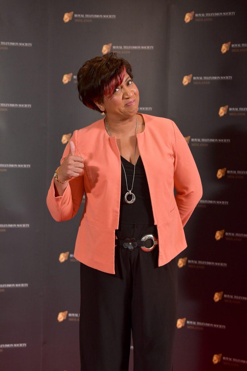Stars on the red carpet at the Royal Television Society Midlands Awards, in Birmingham. UK. 29th November 2019 Presenter Trish Adudu