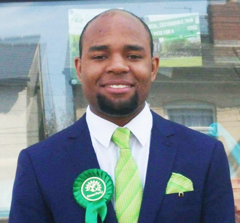 Kefentse Dennis is standing as the Green Party candidate for MP in Birmingham Perry Barr