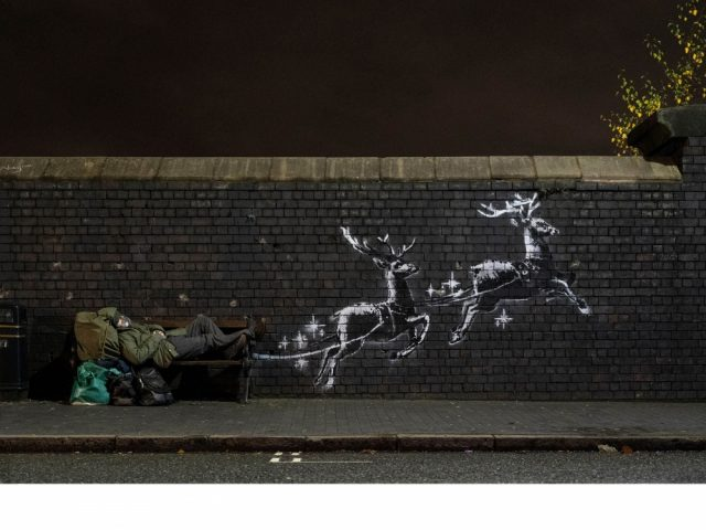 A new Banksy work has appeared in Birmingham highlighting homelessness