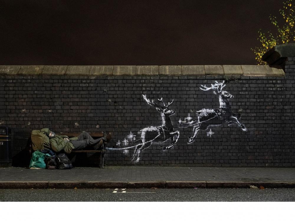 Banksy artwork highlighting homelessness appears in Birmingham overnight