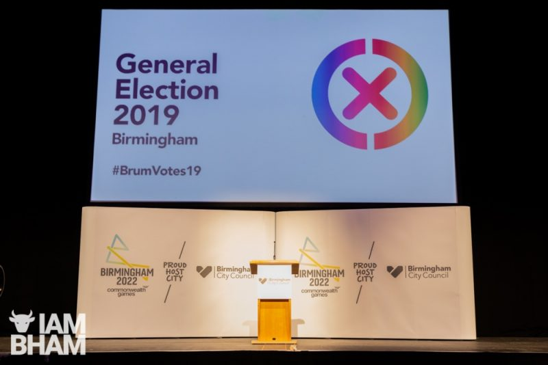 The ICC in Birmingham is the venue for the city's official General Election 2019 results