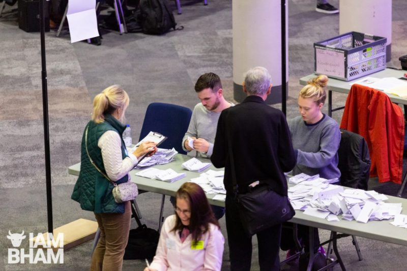 General Election 2019 vote count at the ICC in Birmingham