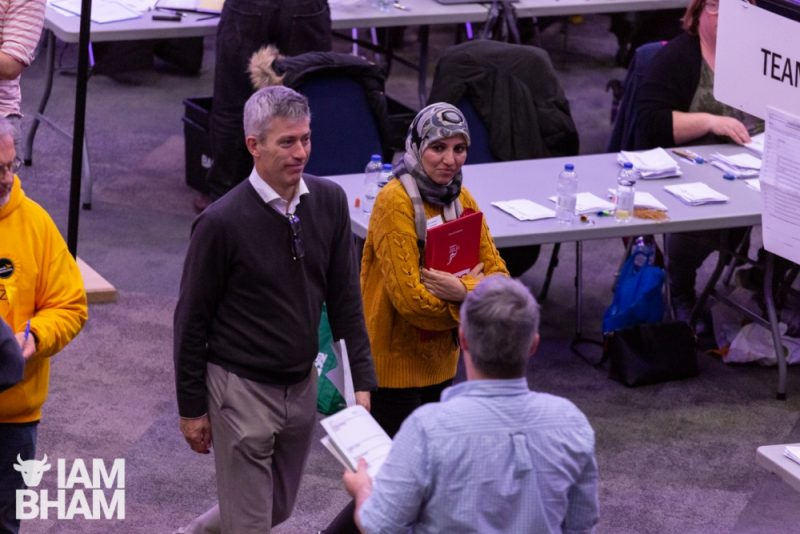 West Midlands Mayoral candidate Salma Yaqoob at the Birmingham General Election vote count