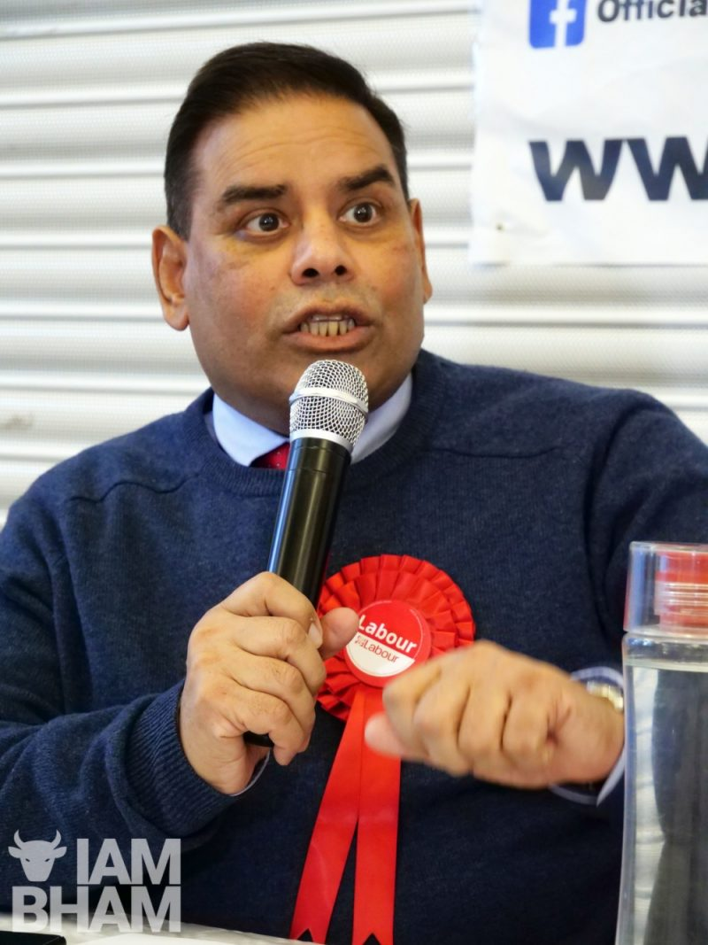 Khalid Mahmood and George Galloway locked horns at a political hustings in Birmingham