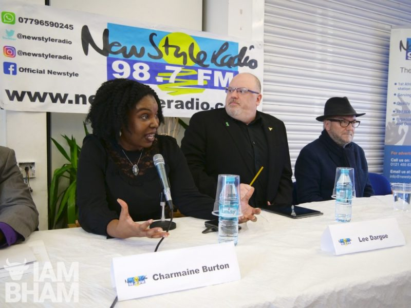 The New Style Radio General Election hustings was chaired by 'Different Anglez' show presenter Charmaine Burton