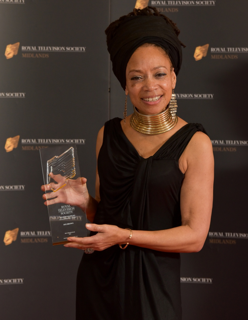 Poet and presenter Sue Brown wins Outstanding New Talent at the RTS Midlands Awards 2019