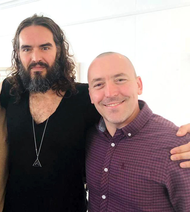 Russell Brand (left) with Changes UK founder and CEO Steve Dixon
