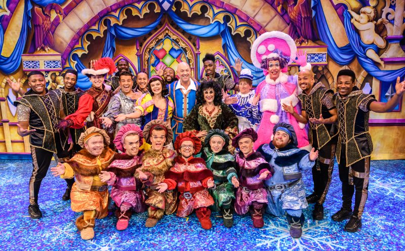 The cast of Snow White and the Seven Dwarfs at Birmingham Hippodrome - credit Simon Hadley