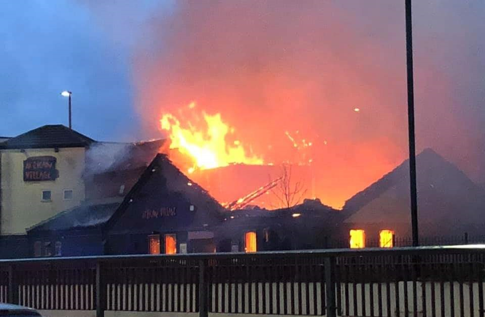Huge fire breaks out at African Village restaurant in Perry Barr