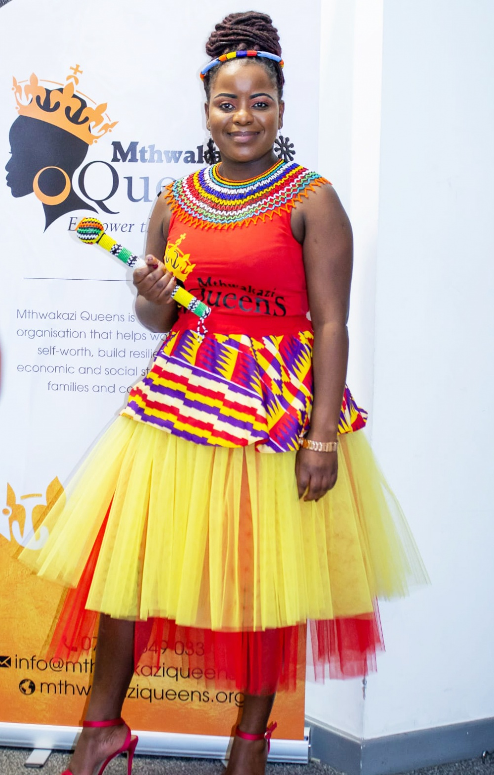 Sazini Malaba is waving the flags for African heritage across the continent