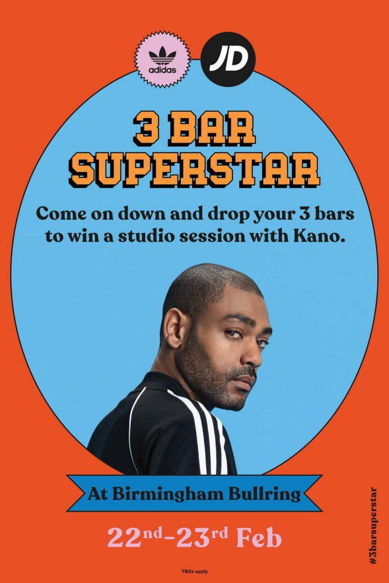 Adidas and JD Sports present '3 Bar Superstar' with music artist Kano