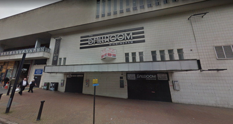 The abandoned Birmingham Ballroom as it stands now