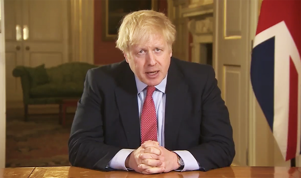 Boris Johnson self-isolates after testing positive for coronavirus