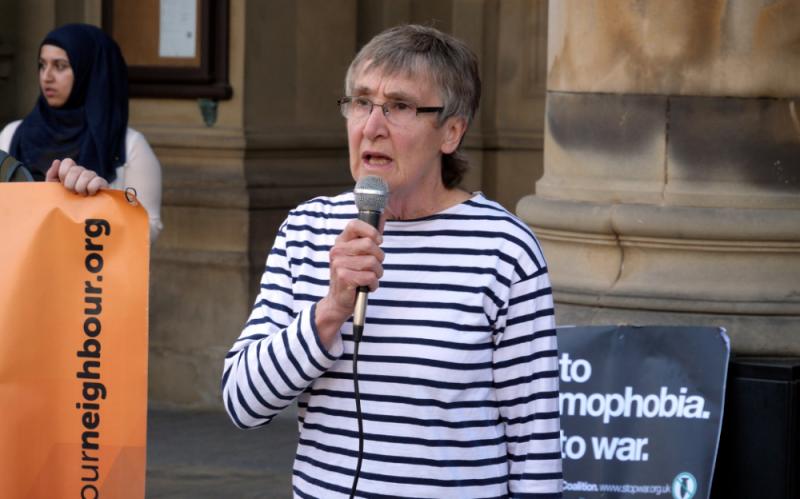 Activist Bridget Parsons in Birmingham