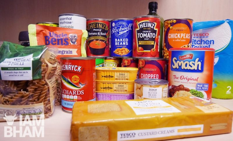Non-perishable food and sanitary items are being collected by the Birmingham Community Solidarity group