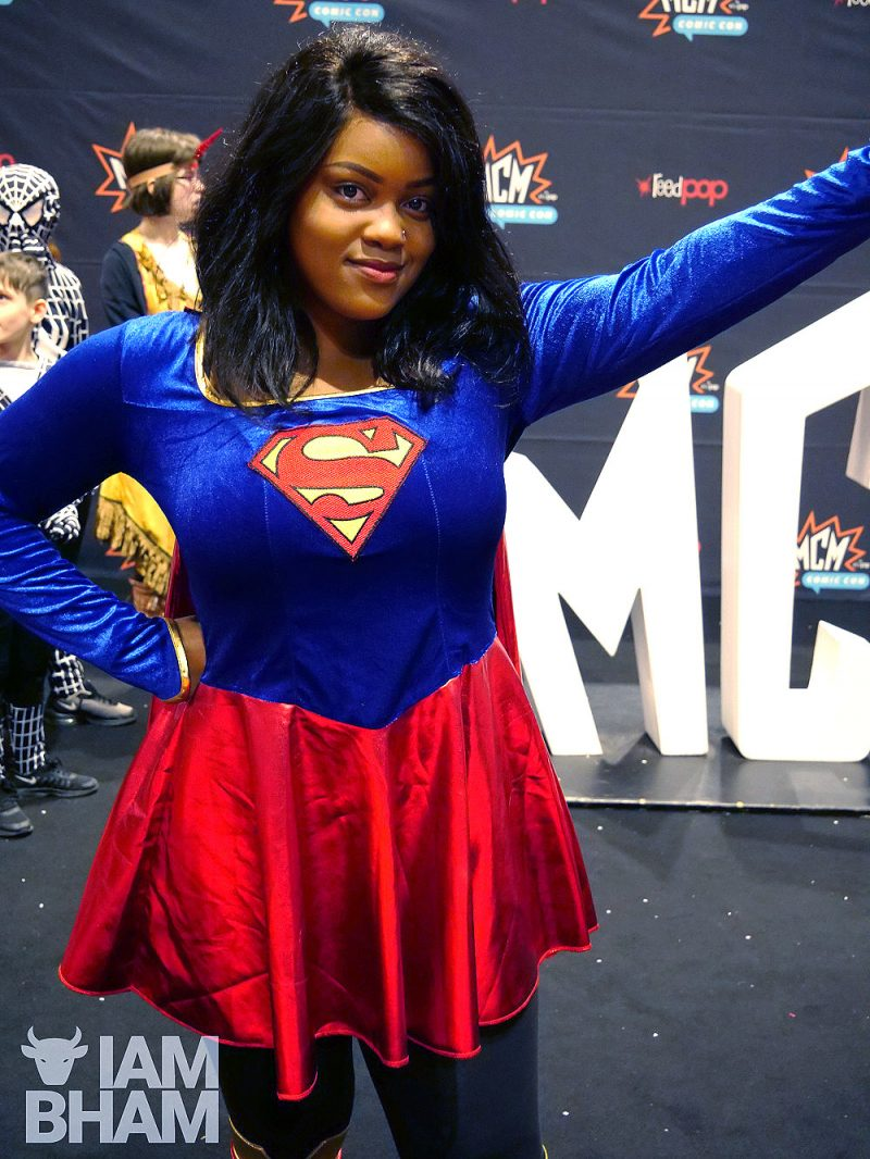 A Supergirl cosplay tribute at MCM Birmingham Comic Con