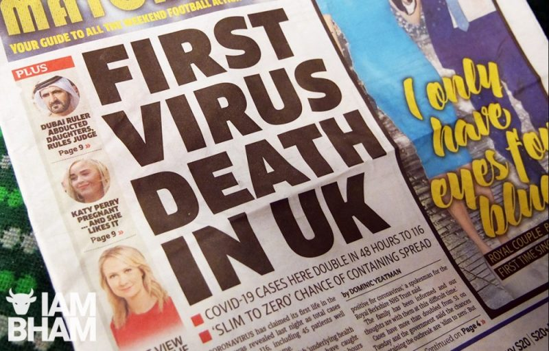 The UK's first coronavirus-related death was recorded on 5 March and it took another 13 days for the number of deaths to pass 100.