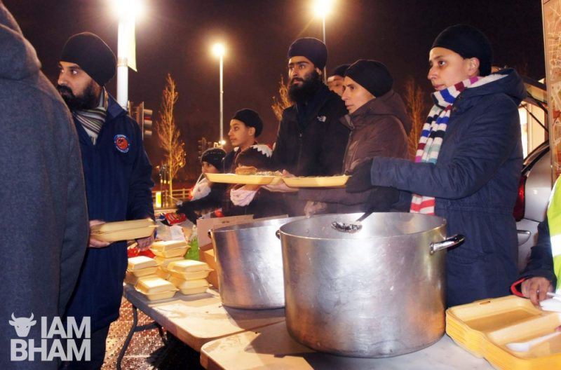 Midland Langar Seva Society (MLSS) volunteers feeding the homeless