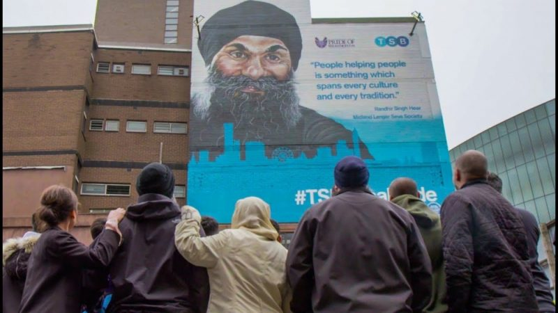 MLSS founder Randhir Singh Heer had a mural dedicated to him in Birmingham by TSB Pride of Britain Awards