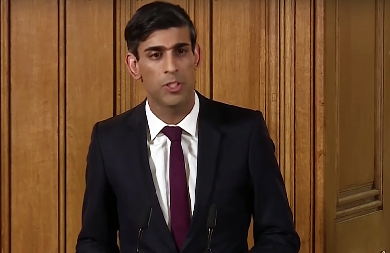 Rishi Sunak yesterday announced a temporary government bailout for businesses during the coronavirus crisis