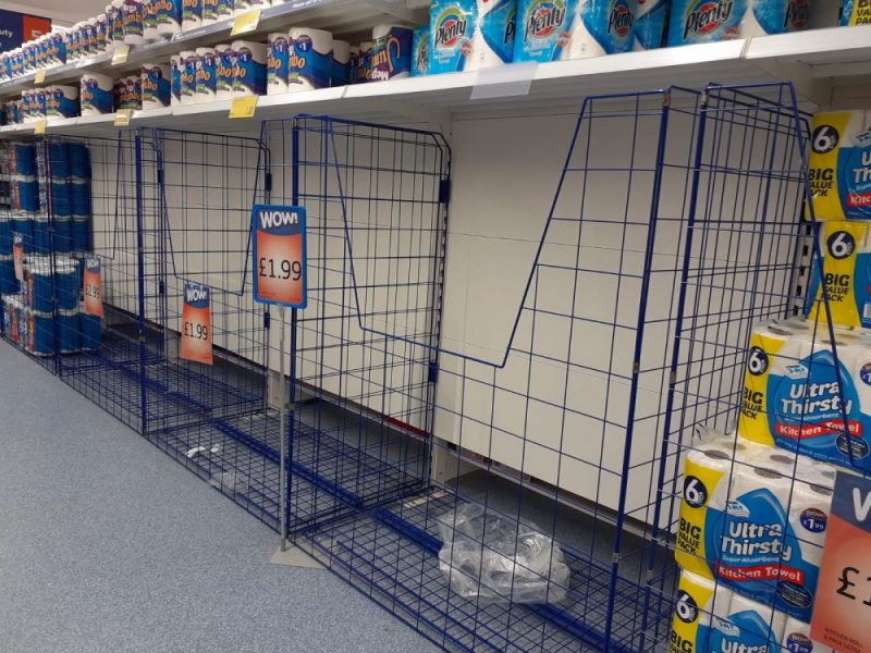 The toilet roll aisle at B&M