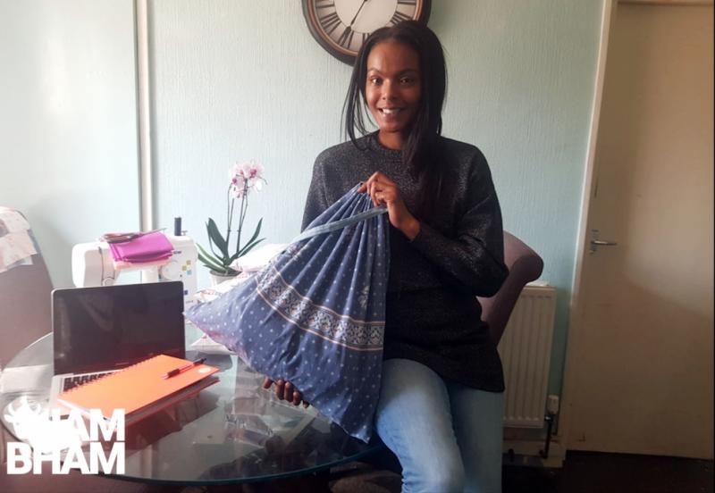 Chanel Morrison-Jolley helps organise Birmingham volunteers create scrubs for NHS workers