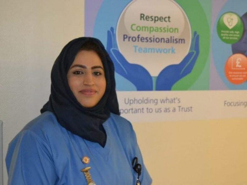 Nurse Areema Nasreen sadly passed away after testing positive for coronavirus