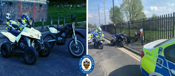 Police seized several quads and off-roaders from anti-social riders over the Easter weekend