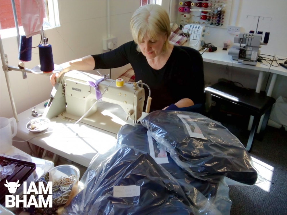 Bernadette White from Kingstanding sewing vital scrubs for NHS staff during the coronavirus crisis