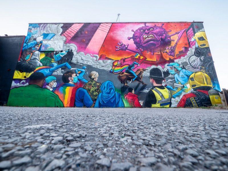 The charity art celebrates the indomitable spirit of Birmingham