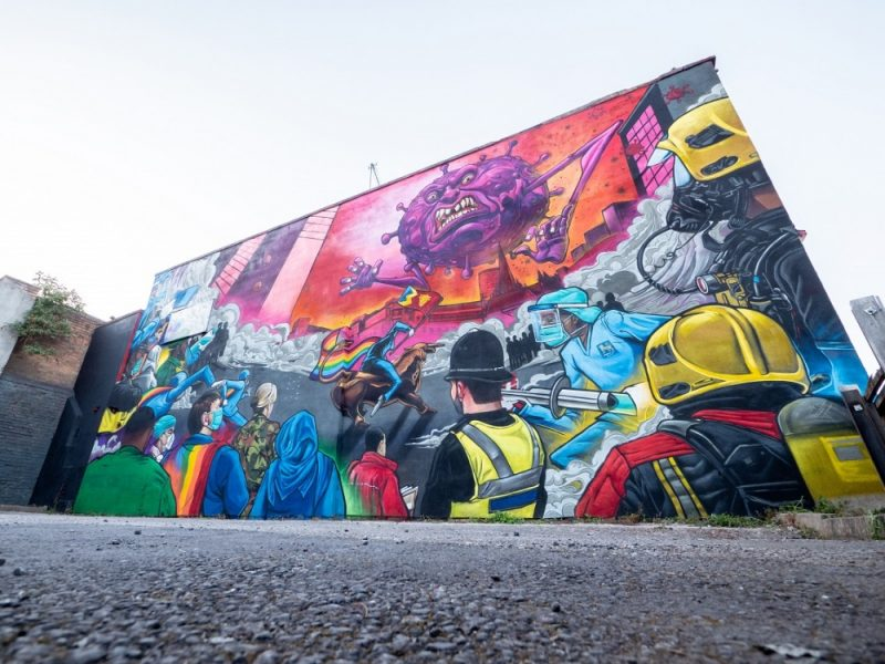 The mural will have an official opening ceremony on Friday