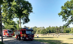 Firefighters clear up after crowds leave Cannon Hill Park looking like a rubbish tip