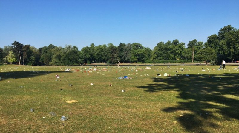 Cannon Hill Park in Edgbaston was left in a shocking state on Saturday with litter discarded all over the park