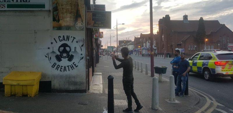 Ali's street art tribute appeared in several locations in Birmingham